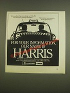 1985 Harris-Lanier Technology Ad - We're really getting some mileage out of PC's