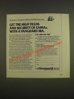 1985 Vanguard IRA Ad - Get the high yields and security of GNMAs