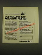 1985 Vanguard IRA Ad - Have you earned 21.4% annually on your IRA?