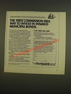 1985 Vanguard IRA Ad - commission-free way to invest in insured municipal bonds