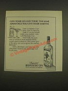1985 Beefeater Gin Ad - Give gin and tonic same advantage you give your martini