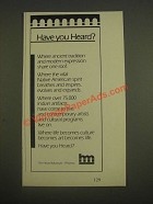 1985 Heard Museum Ad - Have You Heard?