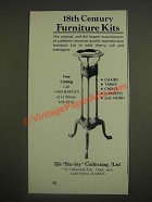 1985 The Bartley Collection Furniture Ad