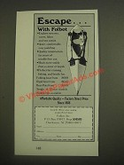 1985 Folbot Boat Ad - EscapeÉ with Folbot