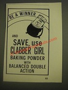 1985 Clabber Girl Baking Powder Ad - Be a Winner