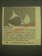1985 B&B Bosom Buddy Breast Form Ad