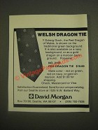 1985 David Morgan Ad - No. 2155 Red Dragon Tie