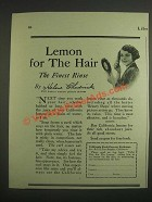 1925 California Fruit Growers Exchange Lemons Ad - Helene Chadwick