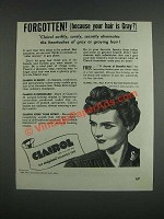 1943 Clairol Shampoo Tint Ad - Forgetten! (Because your hair is gray?)