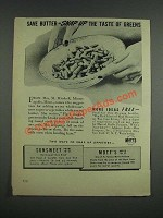 1943 Mott's Apple Jelly and Sunsweet Prune Juice Ad - Save Butter