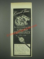 1943 Girard-Perregaux Watches Ad - Correct Time