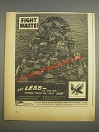 1944 Graflex Camera Ad - Fight Waste! Use less so fighting forces will have more