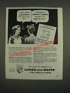 1944 Sunkist Lemons Ad - I hate harsh laxatives - but what can I do?