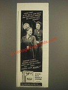 1944 Nujol Laxative Ad - Seems funny to see you at work bright and early