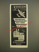 1944 Ronson Lighters Ad - PerformanceÉ best proof of quality