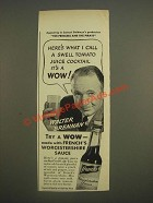 1944 French's Worcestershire Sauce Ad - Walter Brennan