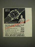 1944 Bell Watches Ad