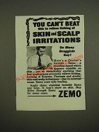 1945 Zemo Skin Care Ad - You can't beat this to relieve itching of skin