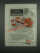 1946 Howell Chromsteel Furniture Ad - for Kitchens & Dinettes