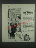 1946 J.B. Williams Aqua Velva After Shave Ad - Here's your invitation to join