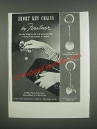 1946 Forstner Short Key Chains Ad - Style K 71 and K 69