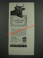 1946 The American Guernsey Cattle Club Ad - Preferred stock