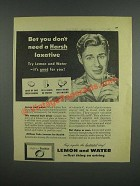 1947 Sunkist Lemons Ad - Bet you don't need a Harsh laxative
