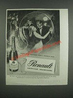 1947 Renault American Champagne Ad - Make your birthday party sparkle with