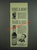 1947 French's Worcestershire Sauce Ad - Make a wow! Make a hit!