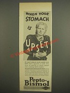 1947 Norwich Pepto-Bismol Ad - When your stomach is upset