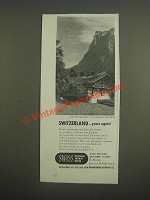 1947 Swiss National Tourist Office Ad - Switzerland yours again