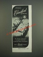 1947 Crawford Watches Ad - Completely dependable