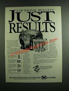 1994 Hornady XTP Pistol Bullets Ad - Just Results