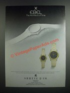 1986 Ebel Watches Ad - The Architects of Time