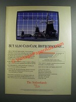 1986 The Netherlands Industrial Commission Ad - Also Cad/CAM, Biotechnology