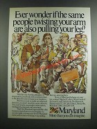 1986 Maryland Dept. of Economic and Community Development Ad - Pulling Your Leg