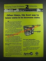 1986 Agrico Fertilizer Ad - Best Way To Lower Costs is To Increase Costs