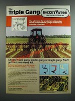 1986 DickeyVator Triple Gang Cultivator Ad