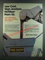 1986 Southern States Grow Master Crop Service Ad - High Analysis