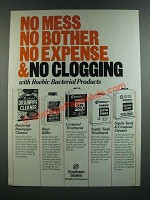 1986 Southern States Roebic Bacterial Products Ad - No Mess No bother