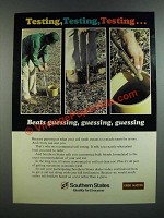 1986 Southern States Grow Master Crop Service Ad - Testing, Testing