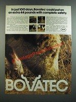 1986 Roche Bovatec Ad - In Just 100 Days, an Extra 44 Pounds