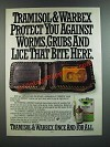1986 Cyanamid Tramisol & Warbex Ad - Protect You Against Worms, Grubs and Lice