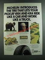 1986 Michelin XCH4 Radial Tires Ad - Ride Like a Car