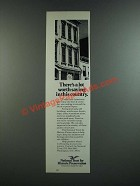 1986 National Trust for Historic Preservation Ad - There's A Lot Worth Saving