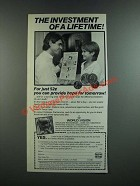 1986 World Vision Ad - The Investment of A Lifetime