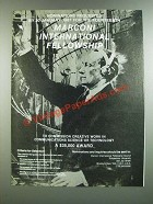 1986 Marconi International Fellowship Ad - Nominations Requested