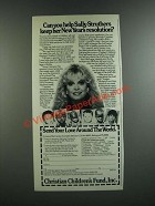 1986 Christian Children's Fund Ad - Sally Struthers - New Year's Resolution