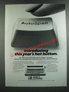 1986 Smith Corona XD 6500 Word-Right AutoSpell Typewriter Ad - Hot Button