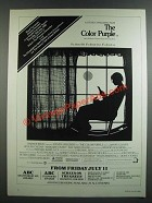1986 The Color Purple Movie Ad - It's About Life. It's About Love